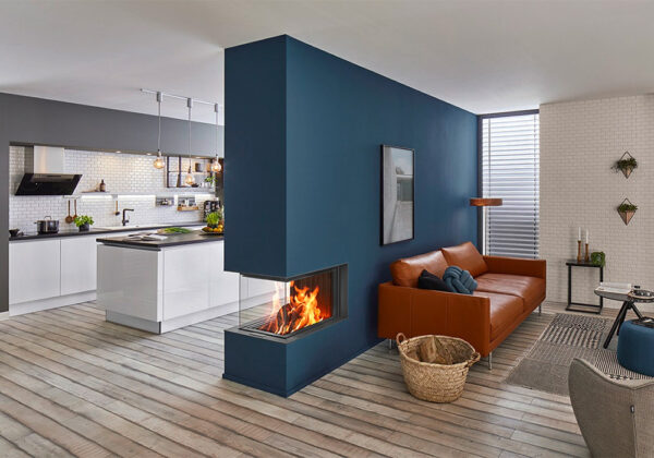 Braskamin kok vardagsrum design inspiration