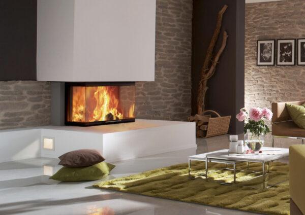 En inspirationsbild av braskamin som designad möbel i hemmet.