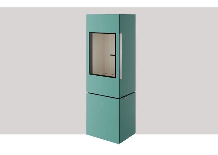 turquoise seo leva fristaende kamin tresidigt glas